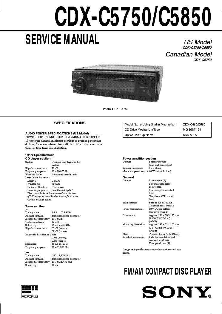 wiring diagram sony cdx m630