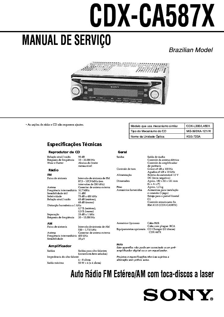 SONY CDX-CA587X service manual