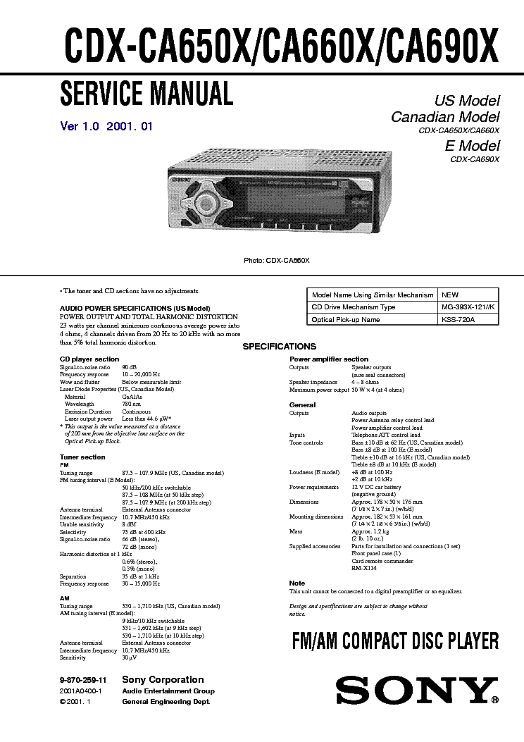 sony_cdx ca650x_ca660x_ca690x_ver 1.0_sm.pdf_1 sony cdx ca650x ca660x ca690x ver 1 0 sm service manual download sony xplod cdx-ca650x wiring diagram at gsmx.co