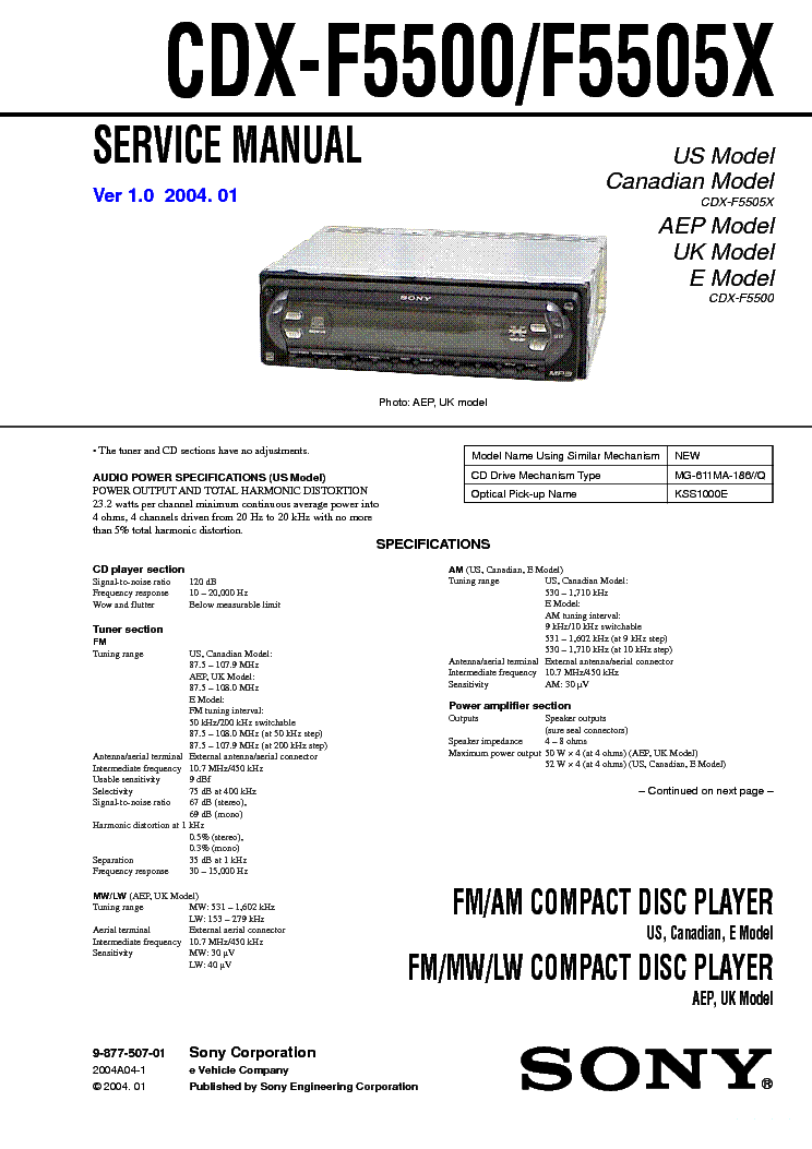 sony_cdx f5500_f5505x_ver 1.0_sm.pdf_1 sony xm 1s sm service manual download, schematics, eeprom, repair sony cdx-f5500 wiring diagram at gsmportal.co