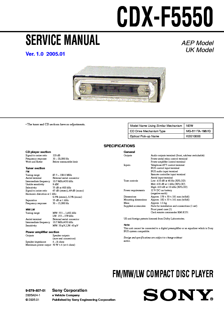 sony_cdx f5500_ver1.0_sm.pdf_1 sony cdx f5500 ver1 0 sm service manual download, schematics sony cdx-f5500 wiring diagram at gsmportal.co
