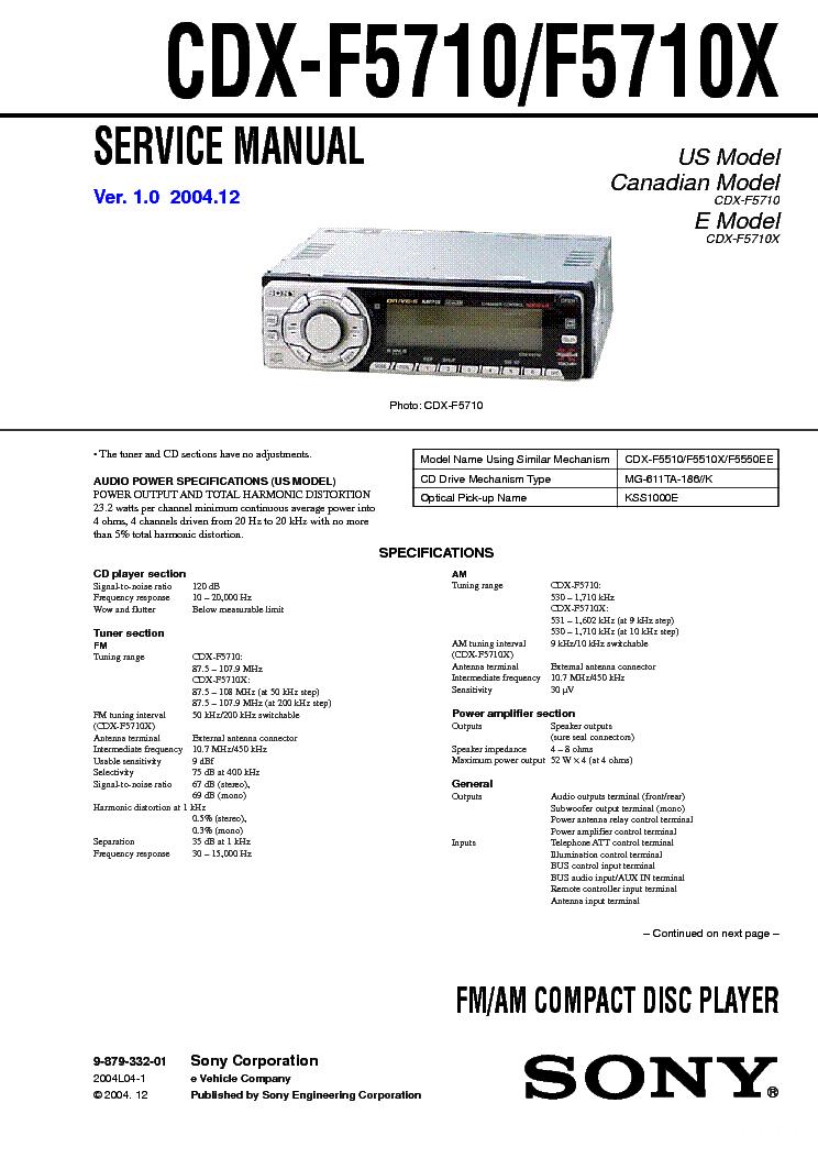 SONY CDX-F5710,F5710X