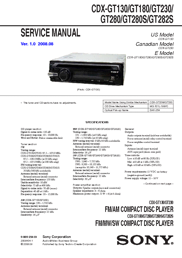 sony cdx gt180 wiring diagram  | elektrotanya…