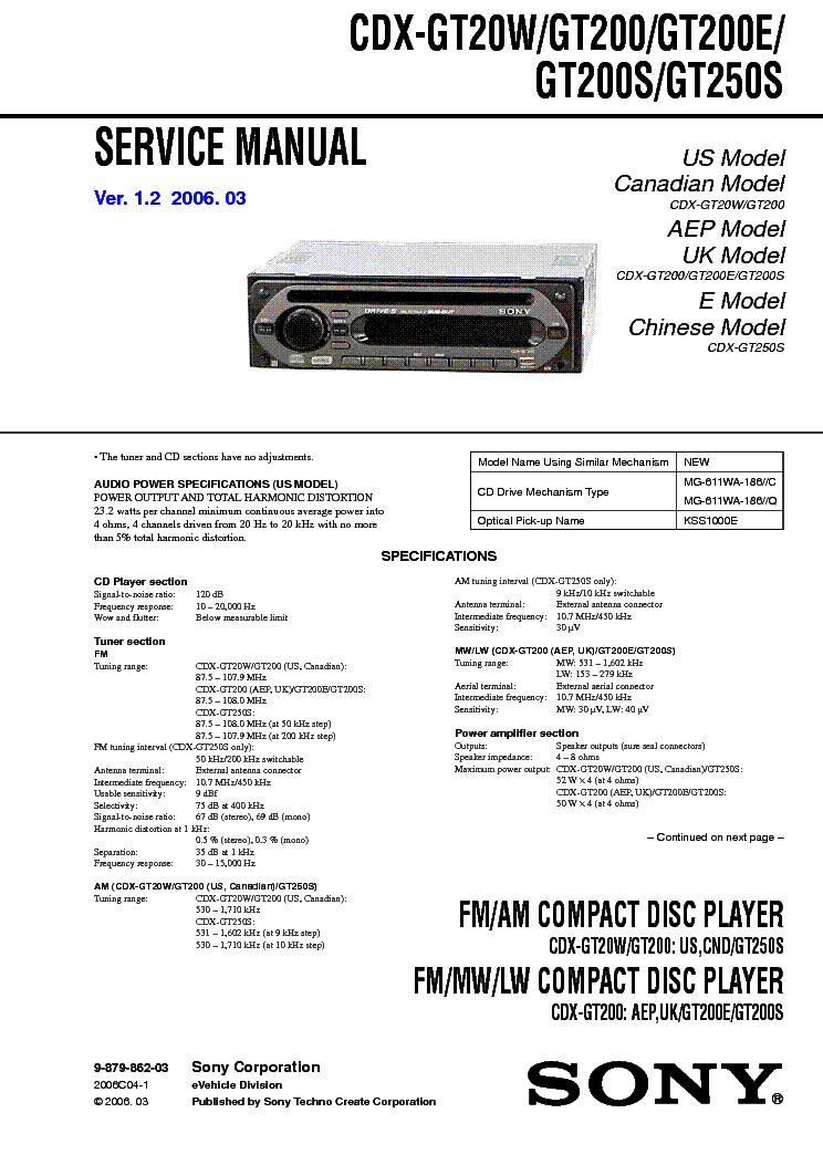 sony cdx m750 wiring diagram sony wiring diagrams cars sony cdx m700r cdx m750 ver1 5 rvice manual