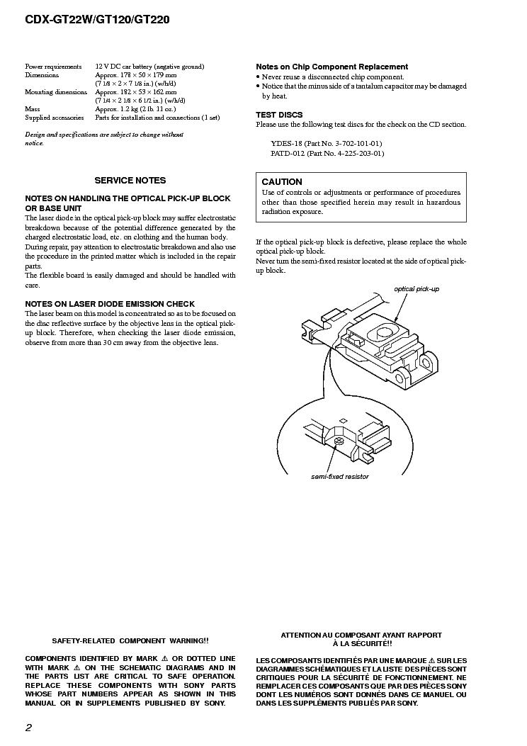 sony cdx gt22w gt120 gt220 service manual download, schematics Sony Xplod Wiring Harness Diagram