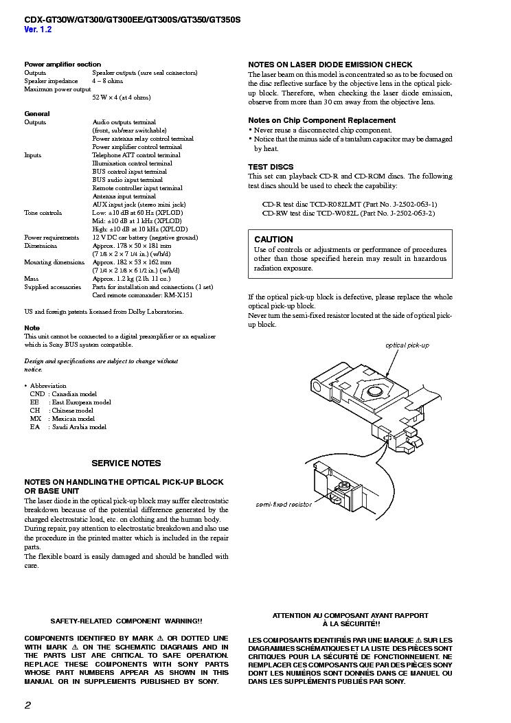 Wire Diagram Cdx Gt100