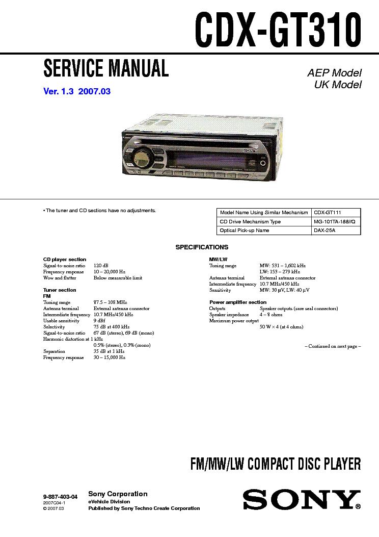 sony mex bt3900u service manual download, schematics, eeprom, repair sony cdx gt610ui wiring-diagram sony mex bt39uw wiring diagram #35