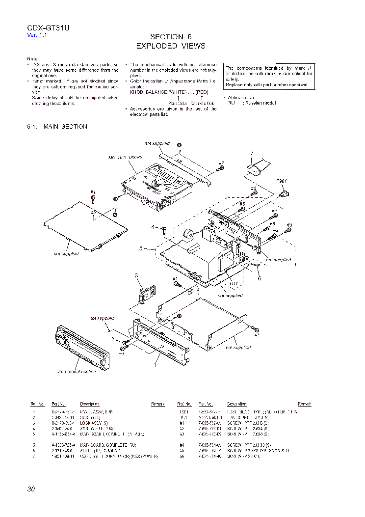 sony cdx service manual schematics sony