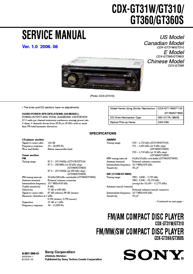 sony w595 service manual filetype pdf