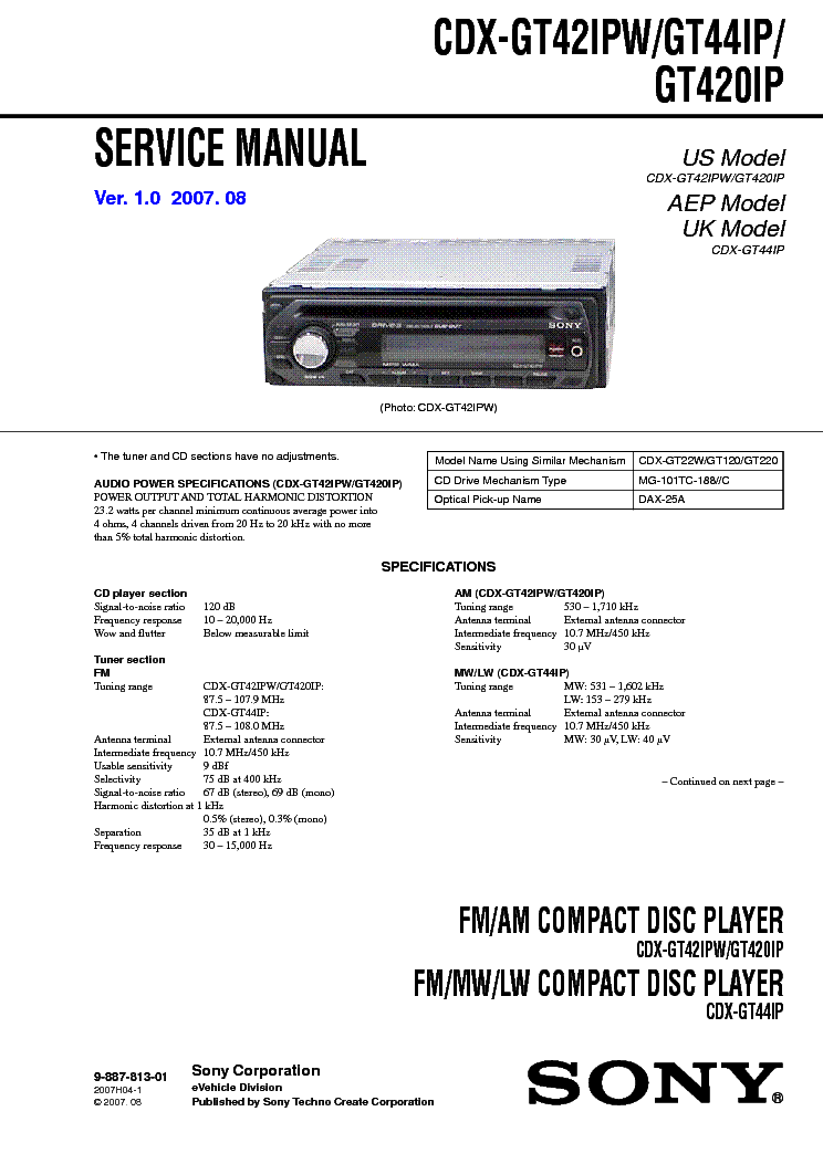 sony cdx gt wiring diagram sony image wiring sony cdx gt07 wiring diagram sony auto wiring diagram schematic on sony cdx gt180 wiring diagram