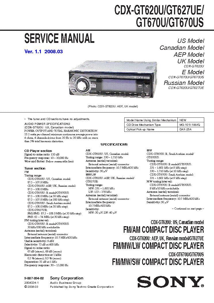 sony_cdx gt620u_gt627ue_gt670u_gt670us.pdf_1 sony cdx gt620u gt627ue gt670u gt670us service manual download sony cdx-gt620u wiring diagram at gsmportal.co