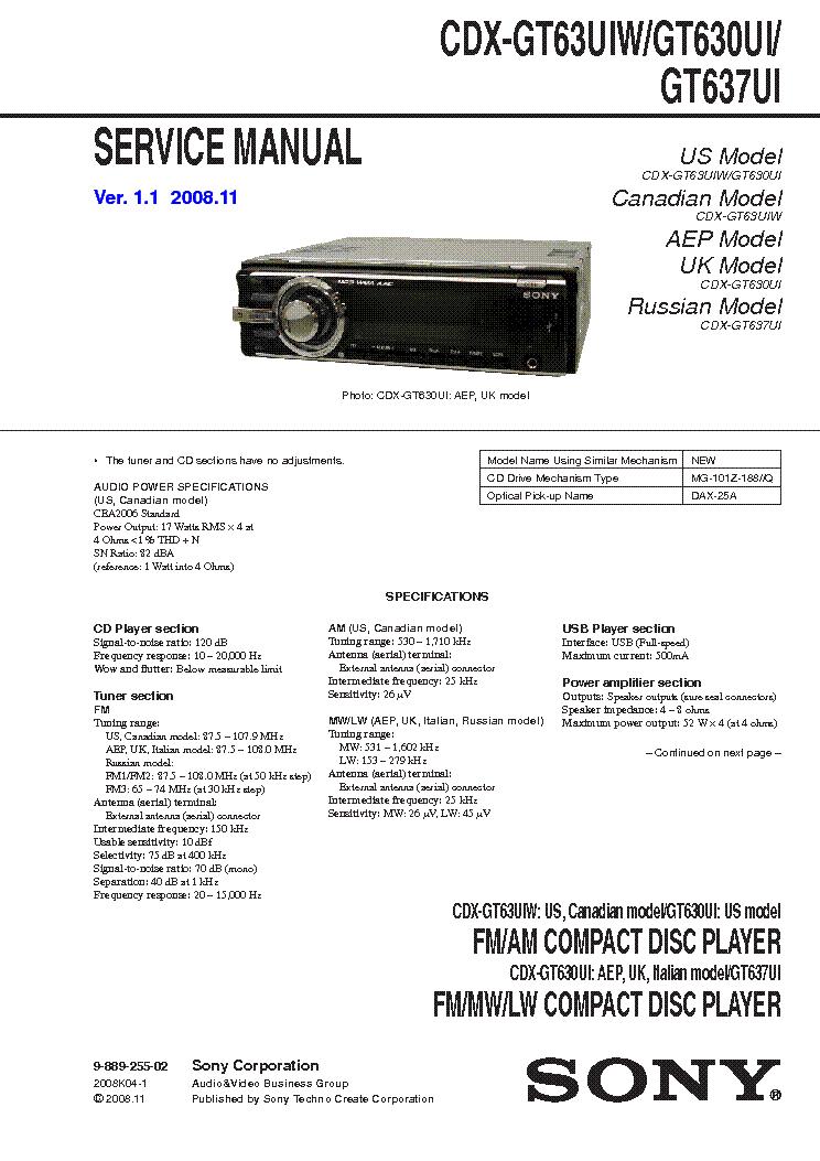 sony mdx ca680 ca680x service manual schematics gt670us sony