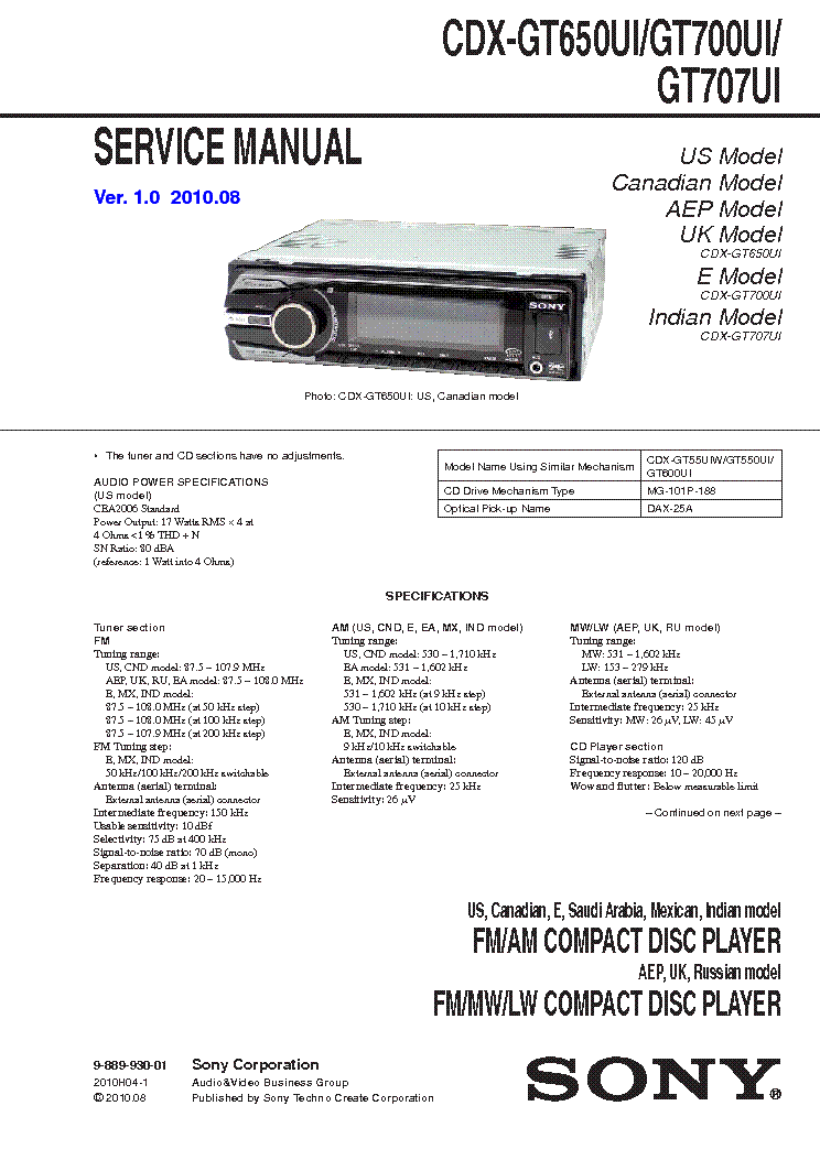 sony_cdx gt650ui_gt700ui_gt707ui.pdf_1 sony cdx gt650ui gt700ui gt707ui service manual download sony cdx-gt700ui wiring diagram at bayanpartner.co