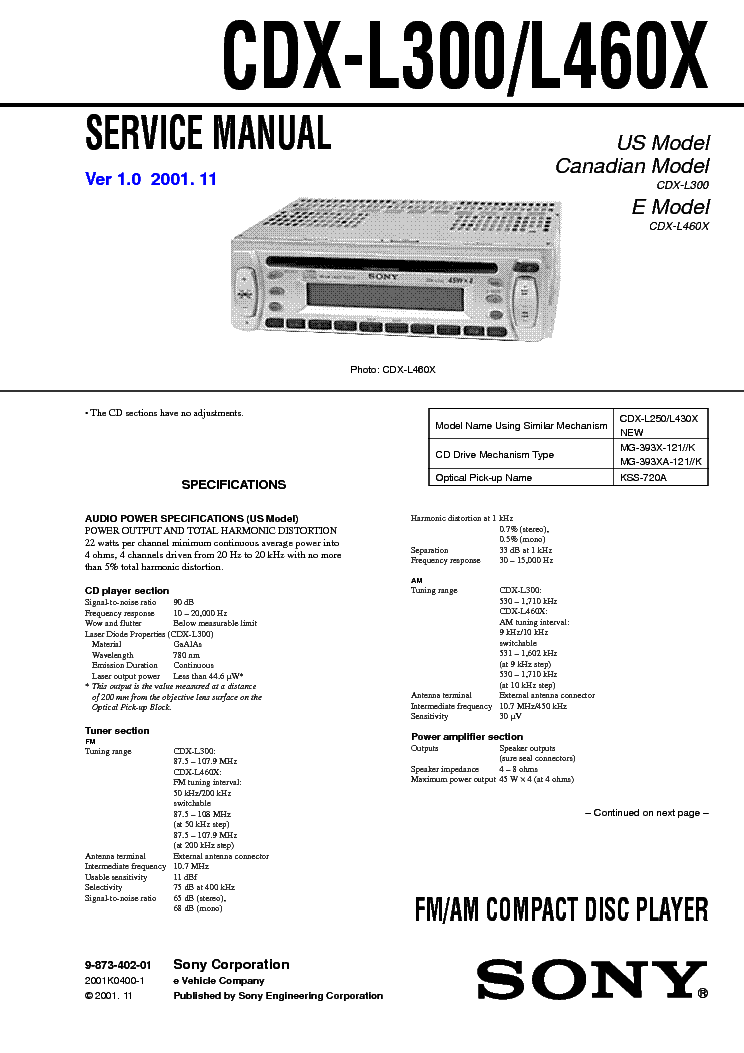 sony cdx l350 wiring diagram   28 wiring diagram images