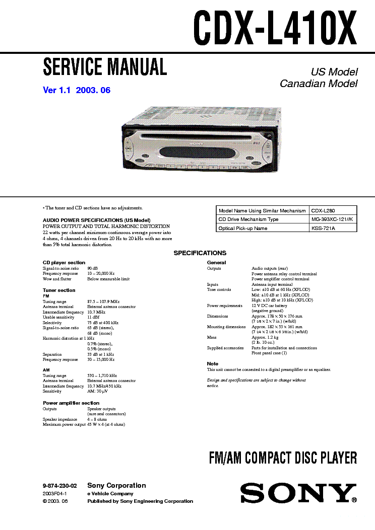 Sony Cd Player Wiring Diagram : Sony cdx l wiring diagram images