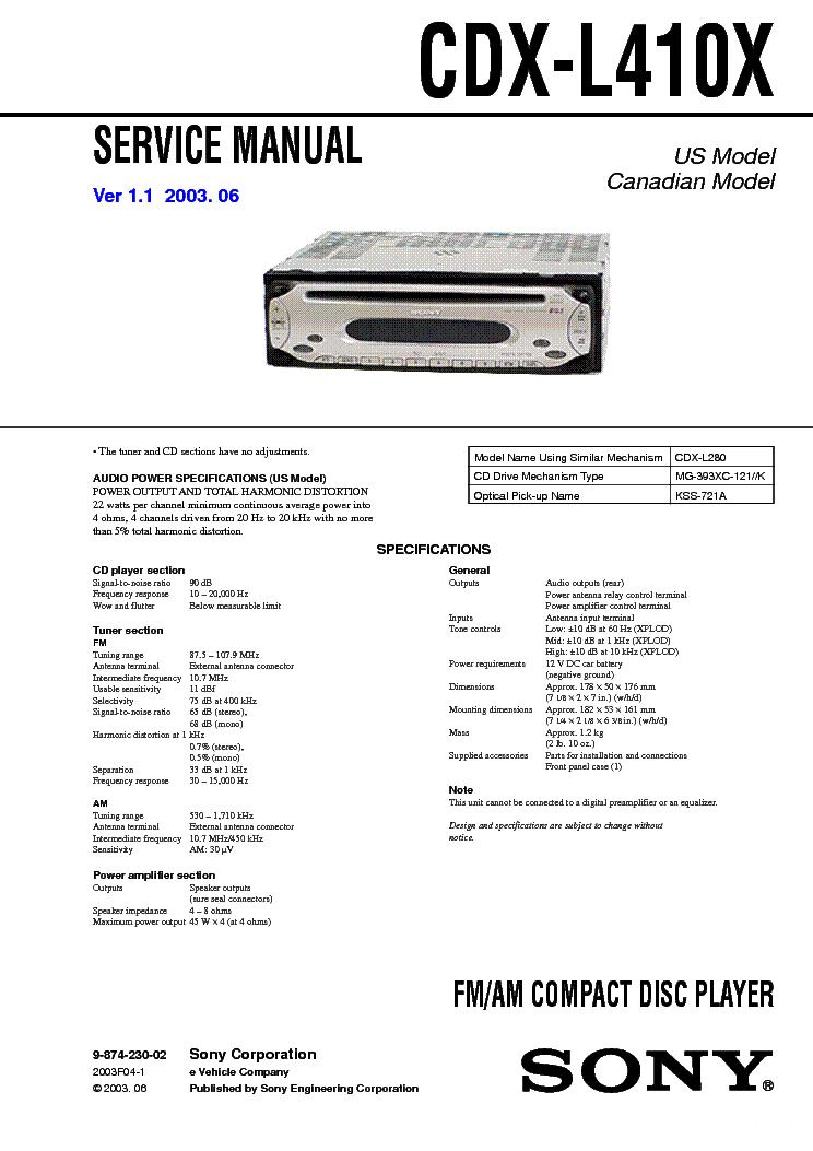 sony_cdx l410x.pdf_1 sony cdx l410x service manual download, schematics, eeprom, repair sony cdx l410x wiring diagram at gsmx.co