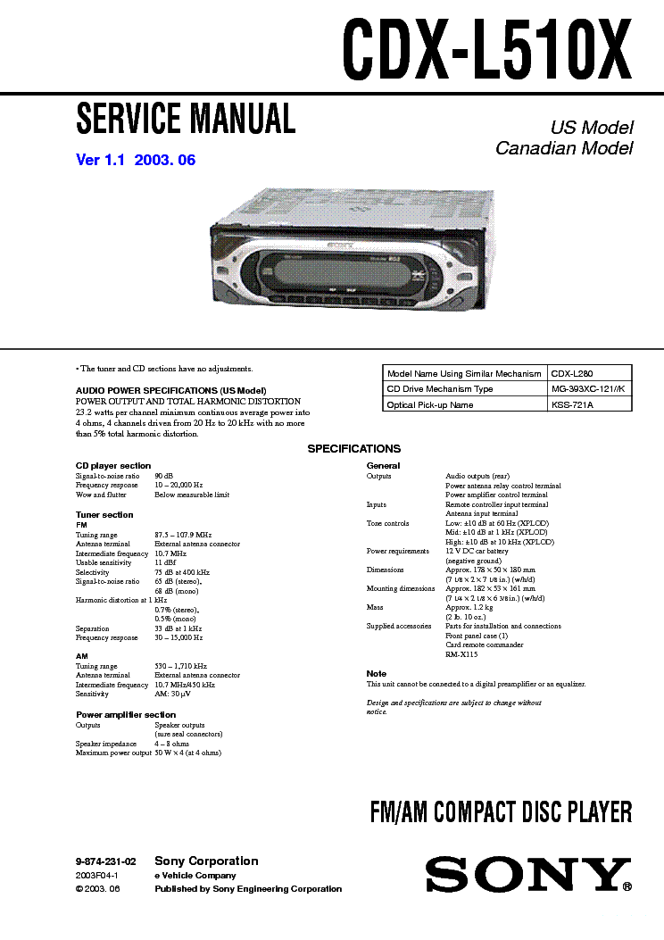 sony_cdx l510x_sm.pdf_1 sony cdx 4000x 4005 4800x service manual download, schematics sony cdx 4000x wiring harness at panicattacktreatment.co