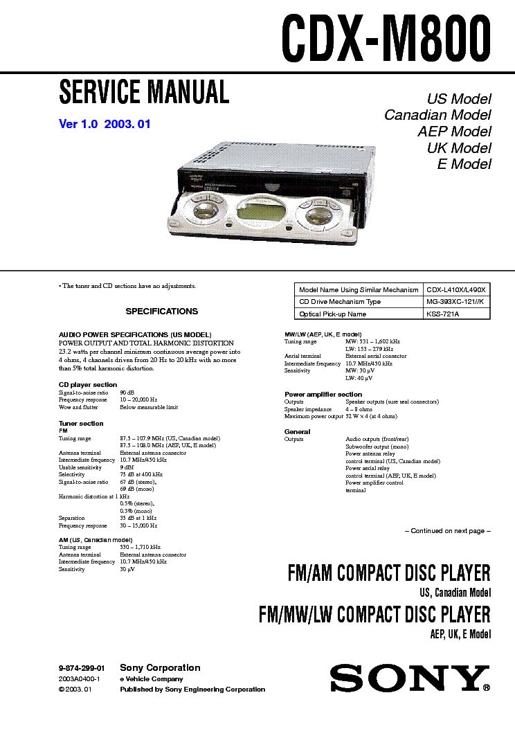 sony cdx m800 wiring diagram 10 nkl capecoral bootsvermietung de \u2022sony cdx m800 service manual download schematics eeprom repair rh elektrotanya com sony car radio wiring sony car stereo wiring diagram