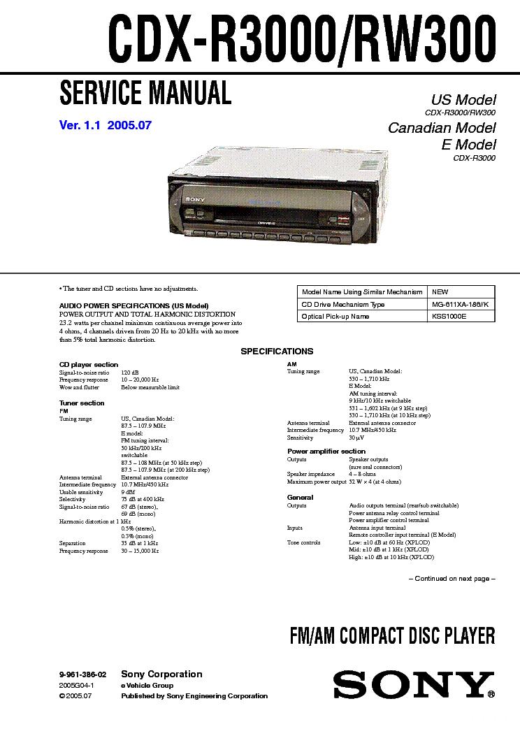sony cdx m600 wiring diagram sony cdx