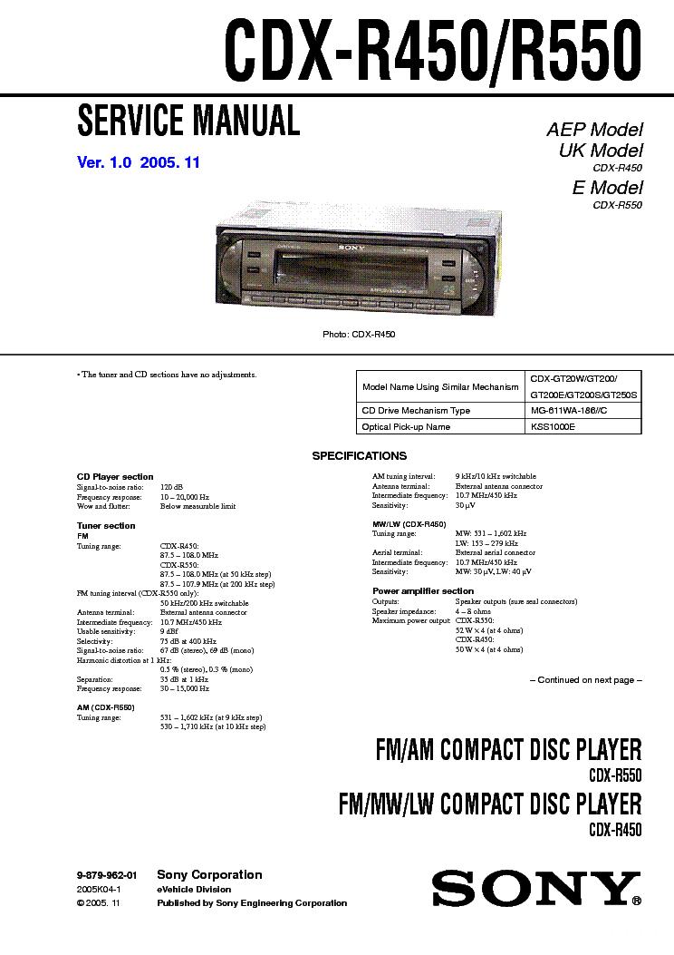 Wiring Diagram For Sony Xplod Cdx Gt630ui : Sony xplod drive s cdx gt w wiring diagram