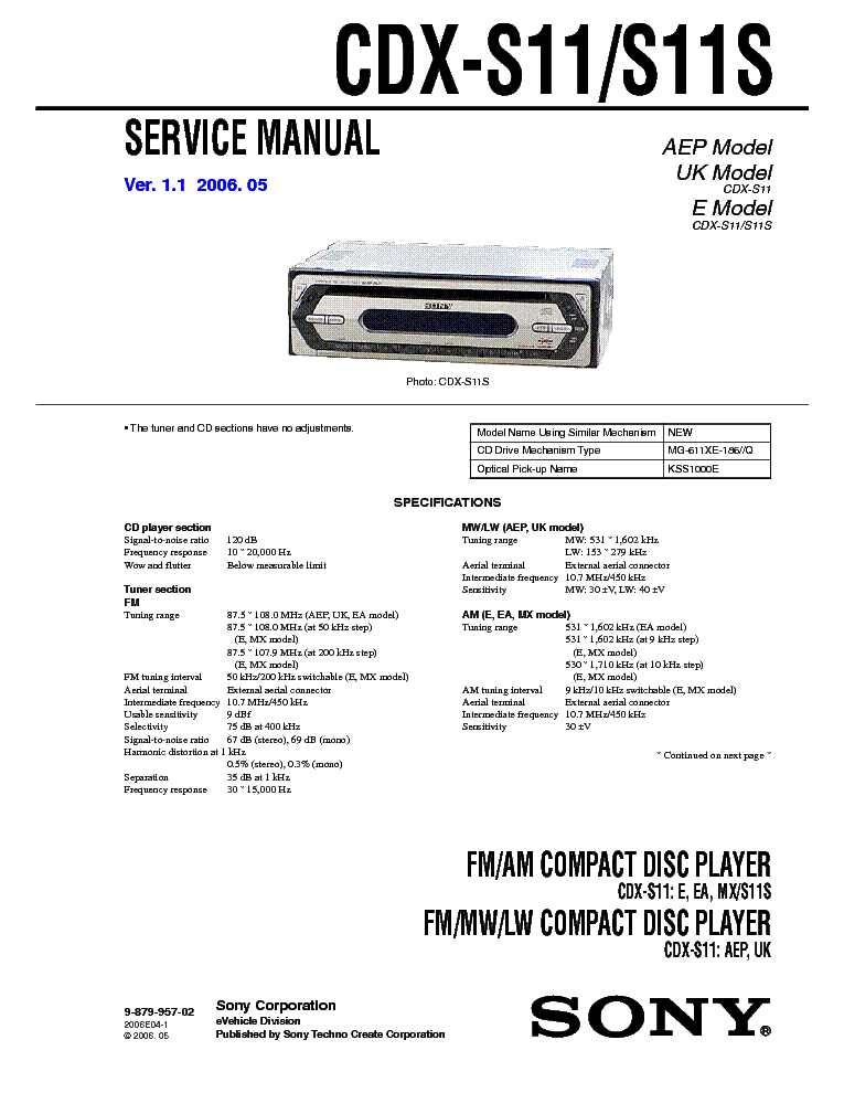 sony cdx gt320mp wiring diagram sony image wiring sony xr 787r service manual schematics eeprom on sony cdx gt320mp wiring diagram