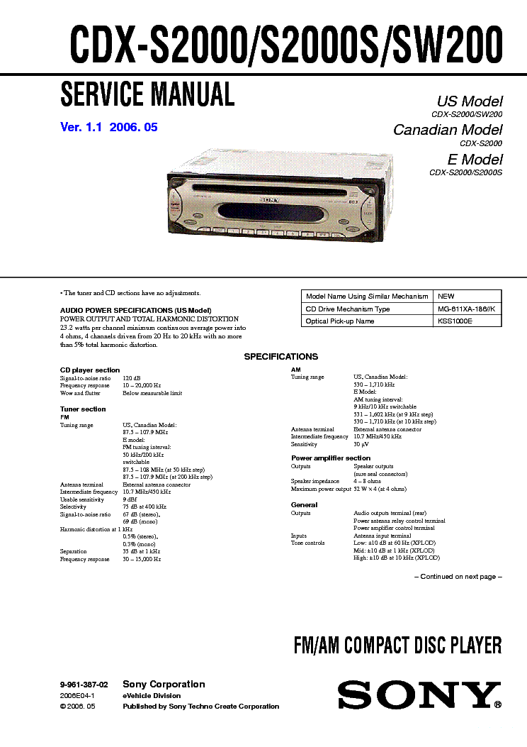 sony cdx s2000 wiring diagram wiring diagram libraries sony cdx s2000 wiring diagram wiring diagram third levelsony cdx s2000 s2000s sw200 ver 1 1