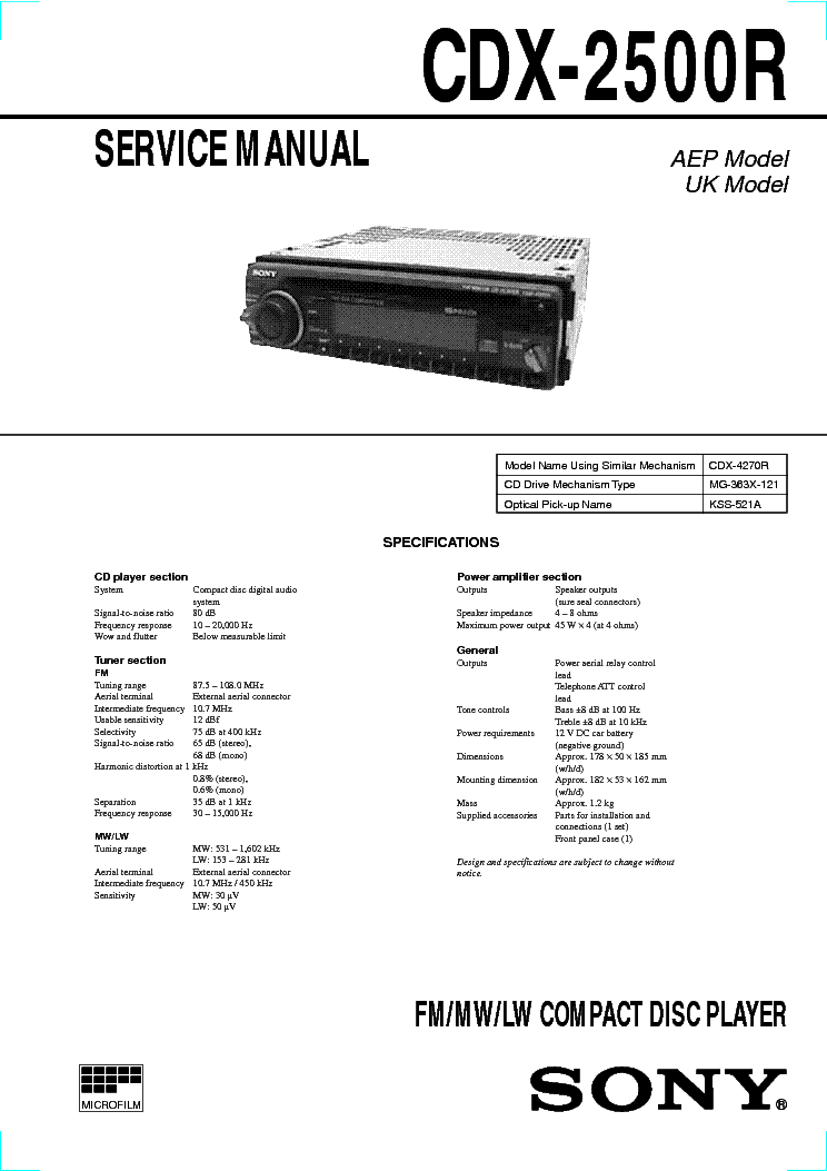 sony_cdx_2500r_sm.pdf_1 sony cdx gt35u wiring diagram sony car stereo wiring colors sony cdx gt610ui wiring diagram at n-0.co
