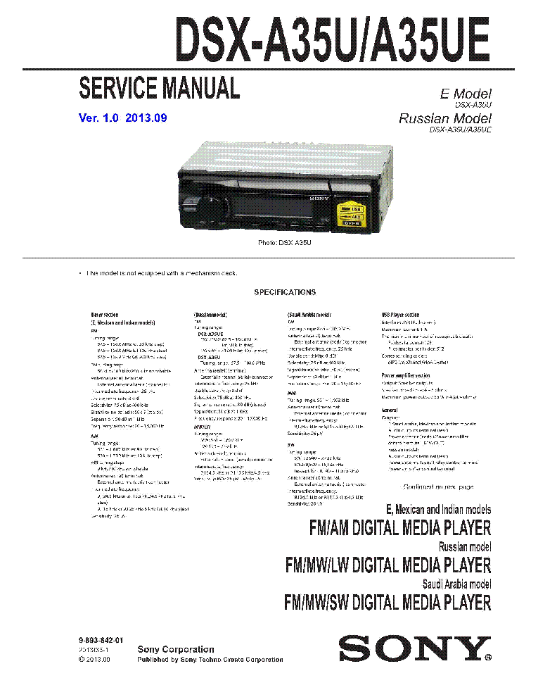 sony_dsx a35u_dsx a35ue_ver.1.0.pdf_1 sony dsx a35u dsx a35ue ver 1 0 service manual download  at cita.asia