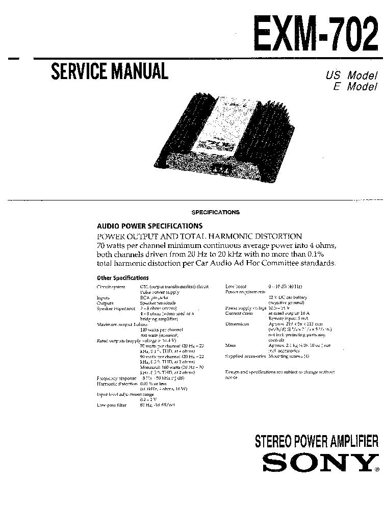 Sony Cdx Gt410u Cdx Gt414u Service Manual Free Download ... Sony Cdx Gt U Wiring Diagram on