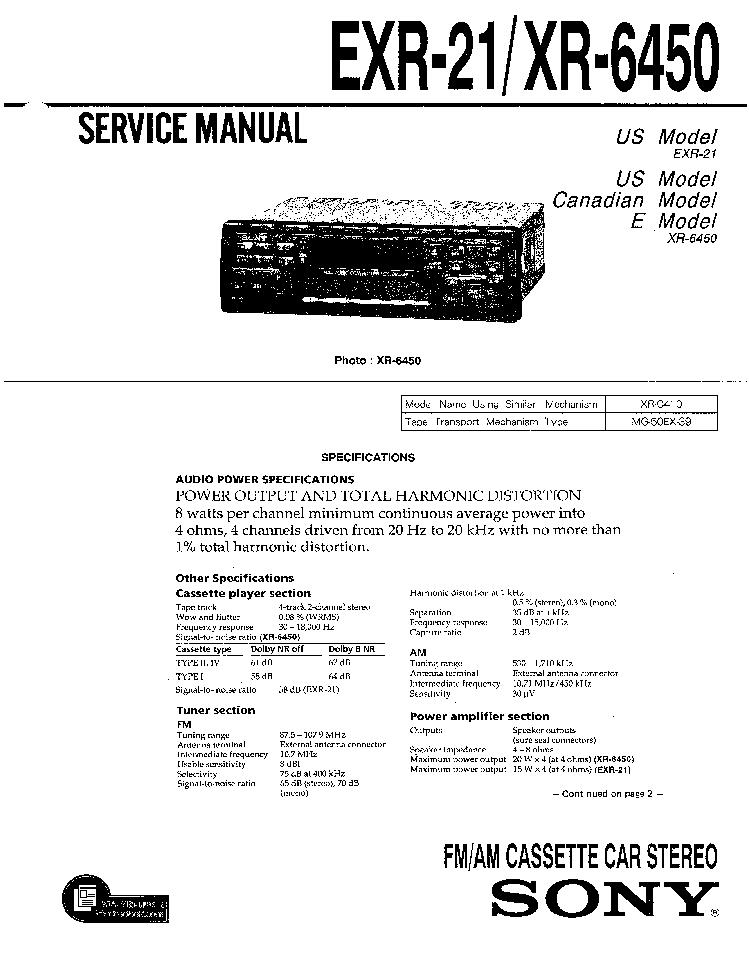 SONY XR-4403. SONY CDX-5072.