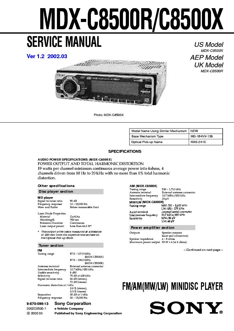 Sony Cdx Gt71w Gt710 Gt760 Ver 12 Sm Service Manual Download