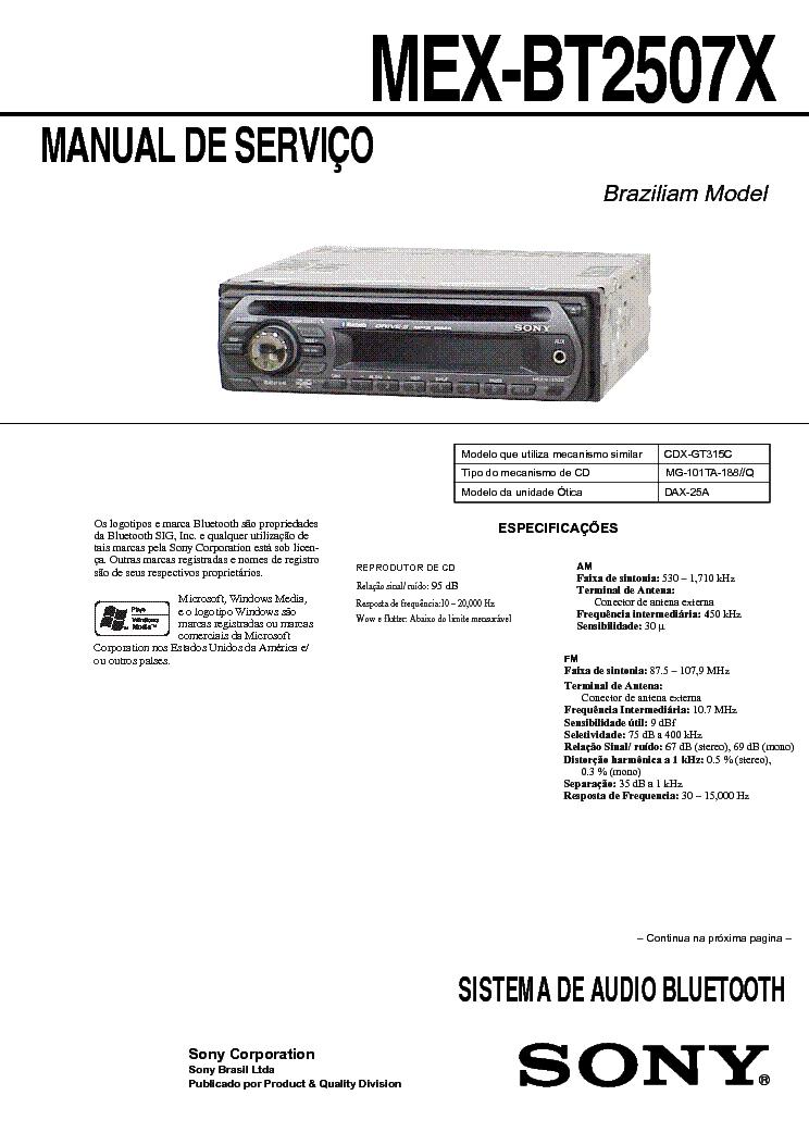 SONY XR-2100 Service Manual download, schematics, eeprom, repair ...
