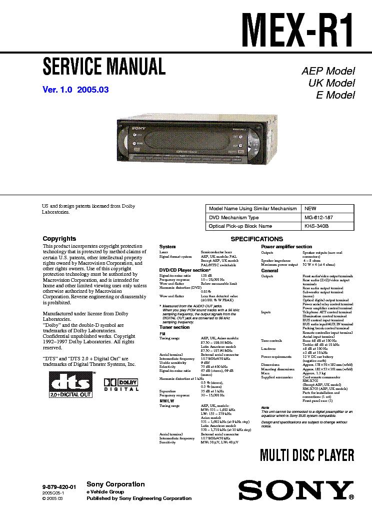sony mex r1 wiring diagram   26 wiring diagram images