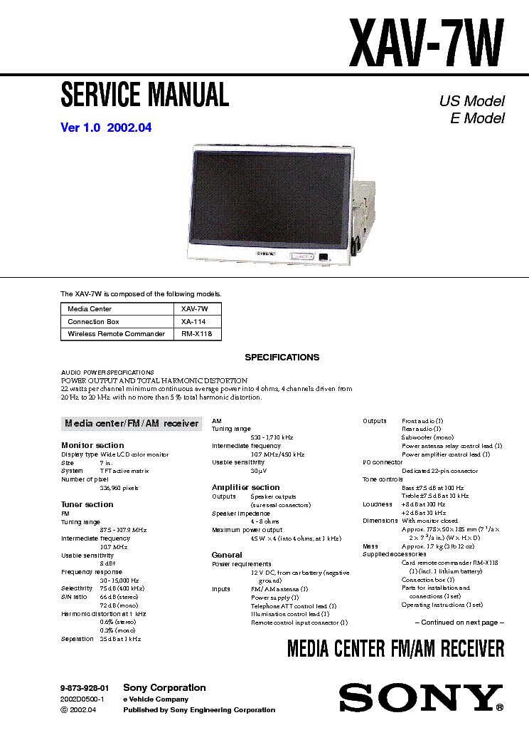 sony cdx 3180 service manual schematics eeprom sony