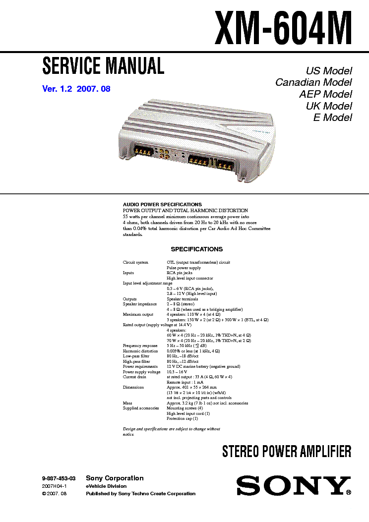 sony cdx 4000x wiring diagram wiring diagram and schematic sony cdx m610 ver 1 0 sm service manual schematics