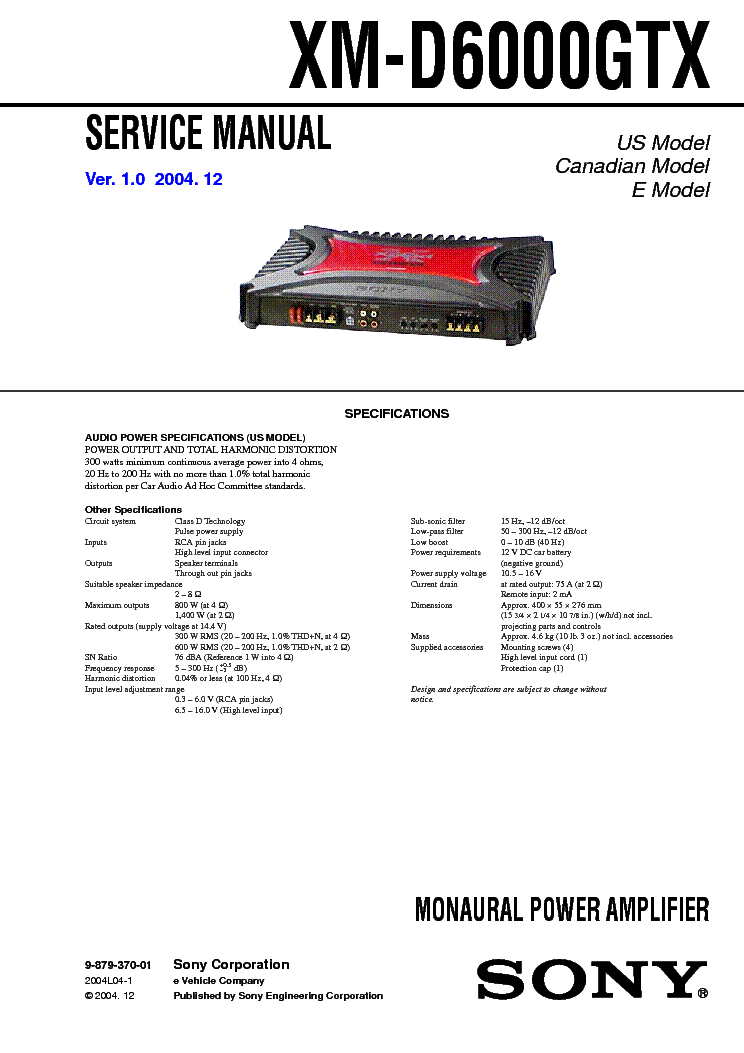 sony xm 2002gtw sm service manual download schematics eeprom rh elektrotanya com sony xplod xm-2002gtr manual sony xplod xm-2002gtr manual