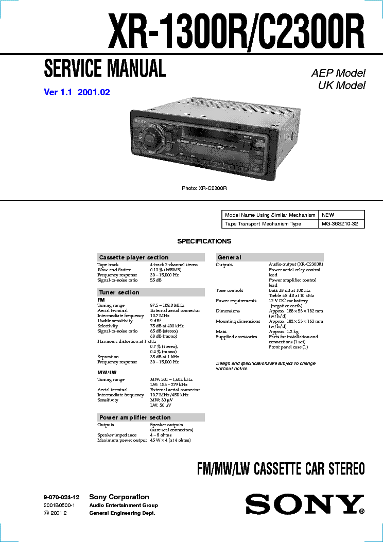 sony_xr 1300r_c2300r_ver1.1.pdf_1 sony xr 1300r c2300r ver1 1 service manual download, schematics sony xr 2300 wiring diagram at bayanpartner.co