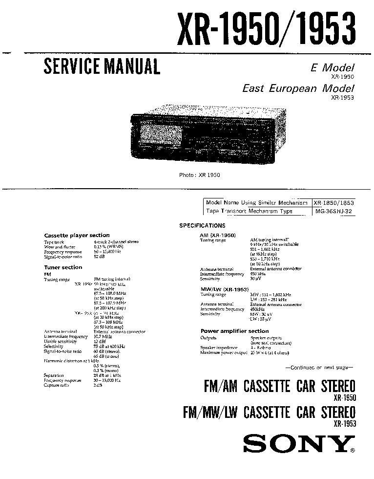 sony cdx gt34w gt340 ver 1 0 service manual sony xr 1940 sm sony