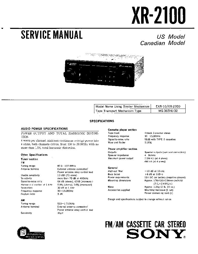sony cdx gt34w gt340 ver 1 0 service manual sony