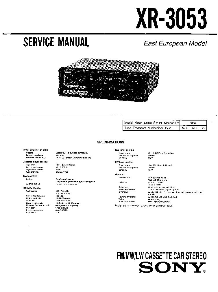 SONY XR-3053