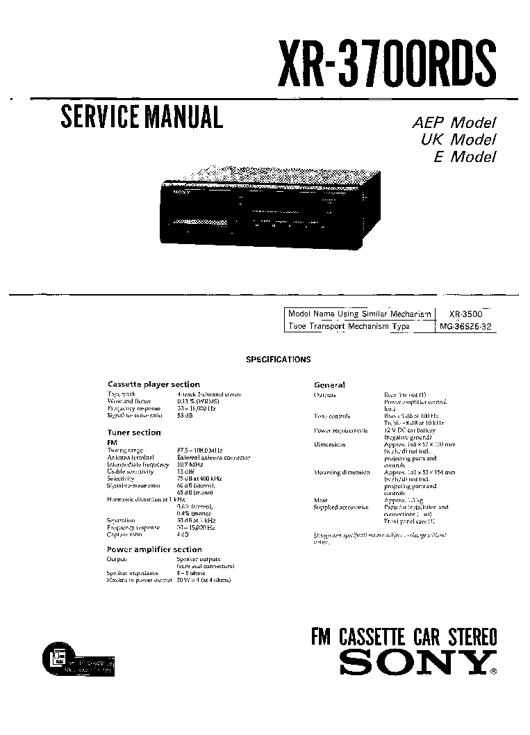 Sony Cdx M600 M600r M650 Ver 11 Sm Service Manual Download Wiring Diagram