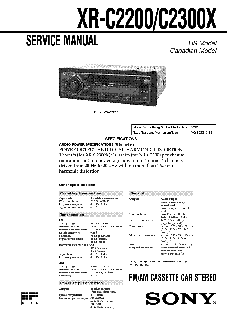 sony_xr c2200_c2300x_sm.pdf_1 sony xr c2200 c2300x sm service manual download, schematics sony xr 2300 wiring diagram at bayanpartner.co