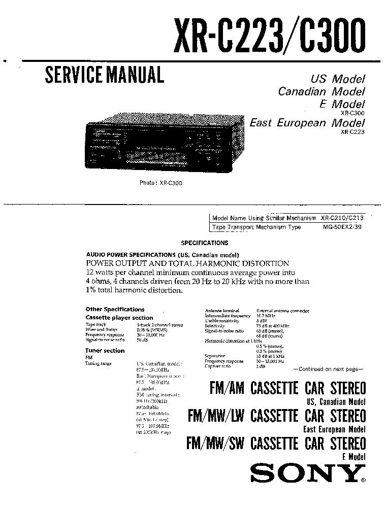 SONY XR-C223,C300