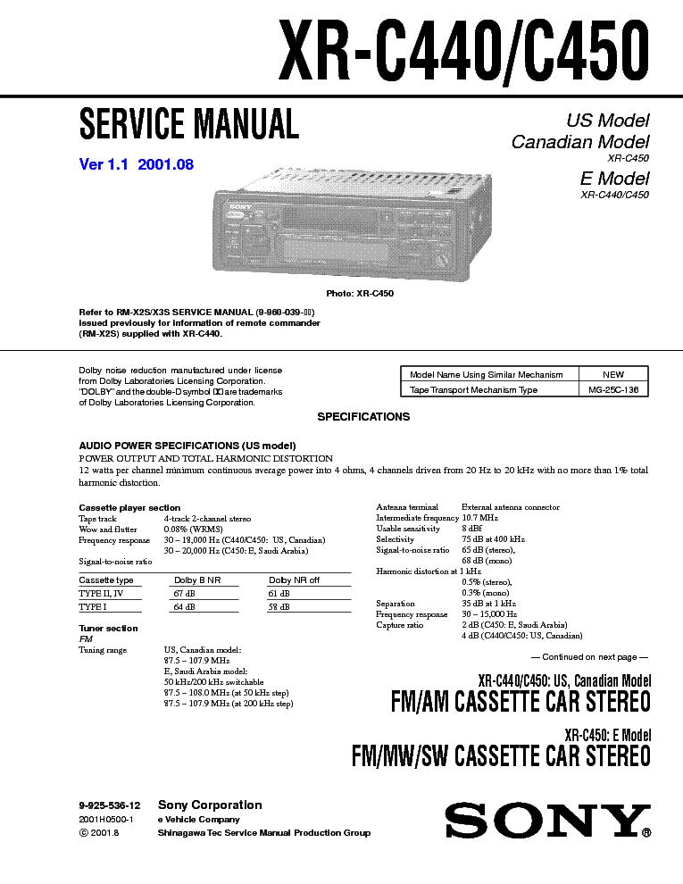 SONY XR-C440 C450 VER-1.1