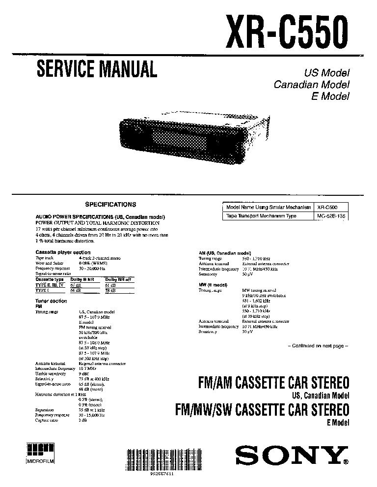 Sony xr 2100 car stereo wiring diagram