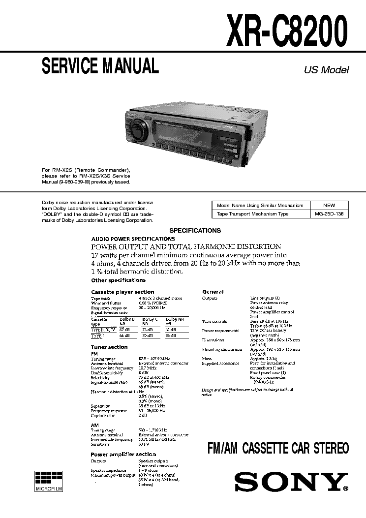 sony_xr c8200.pdf_1 sony cdx m8800 8805x service manual download, schematics, eeprom  at mifinder.co