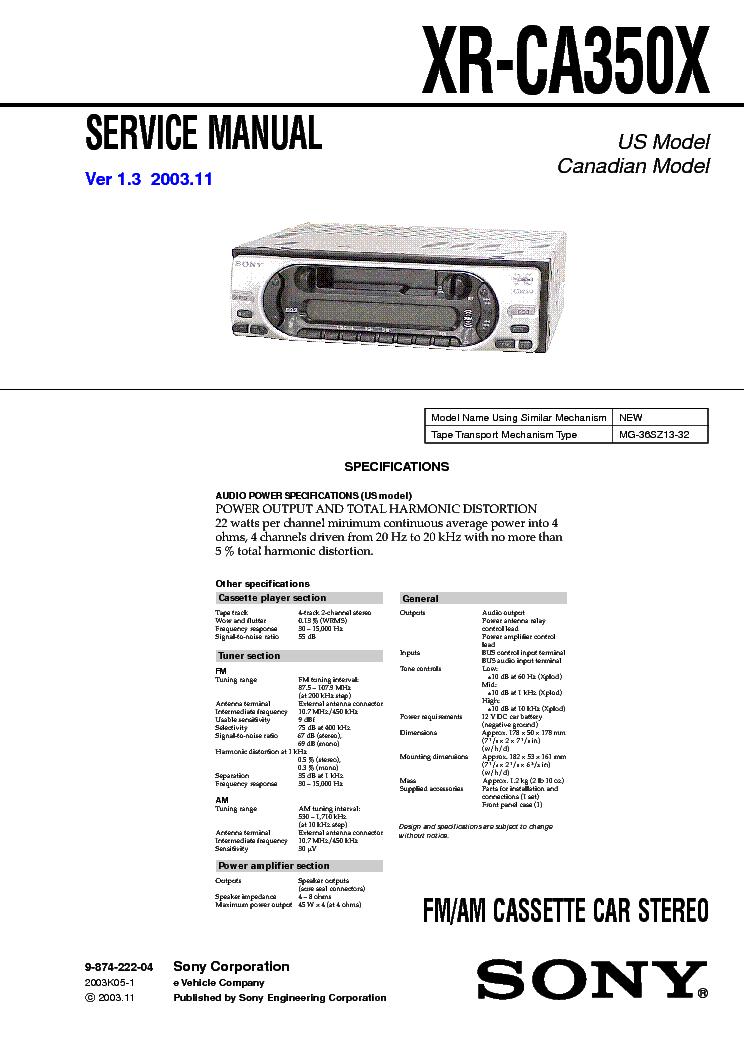 Radio Wiring Diagram For Sony Xr C410. . Wiring Diagram on