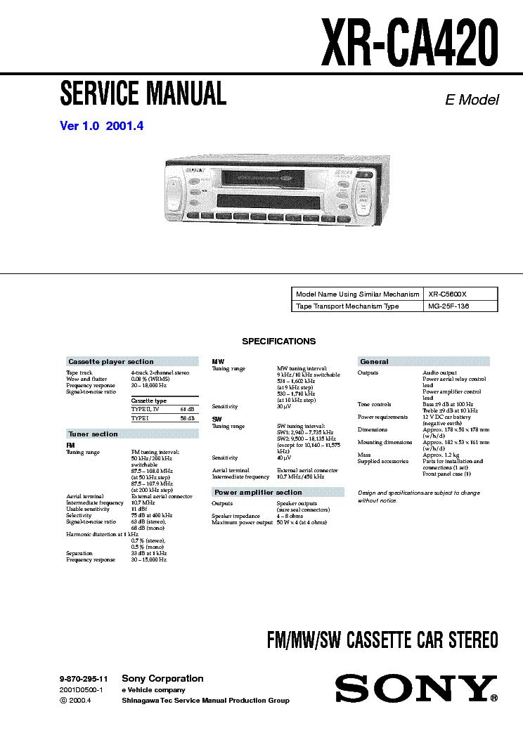 sony cdx x wiring diagram wiring diagram and schematic sony cdx m610 ver 1 0 sm
