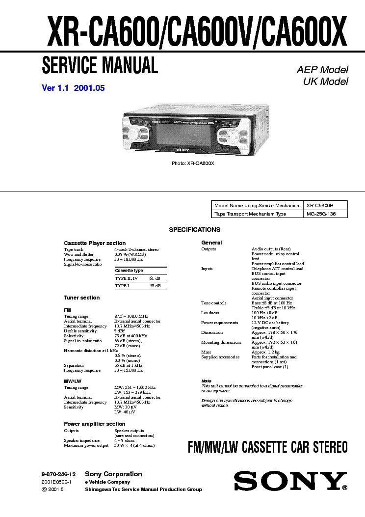 Инструкция sony cdx ca600x скачать бесплатно