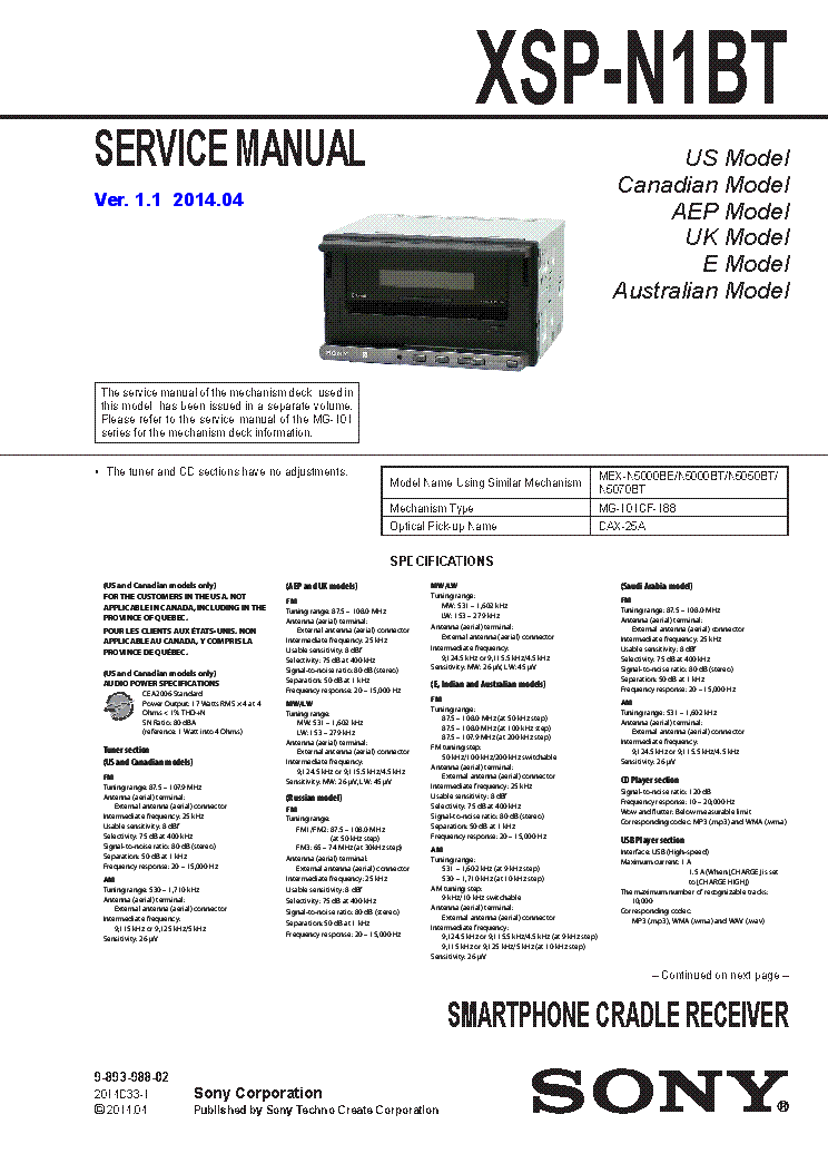 sony_xsp n1bt_ver1.1_sm.pdf_1 sony xm 2042 sm service manual download, schematics, eeprom sony xsp-n1bt wiring diagram at panicattacktreatment.co